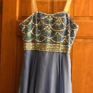 Periwinkle blue with crystals formal dress